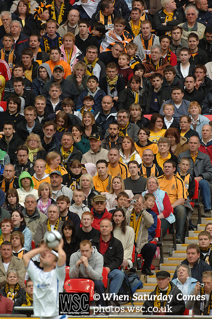 Torquay United 2 Cambridge United 0, 17/05/2009. Wembley Stadium, Conference Play Off Final. Tense Cambridge United supporters watch the action unfold. Torquay United returned to the Football League after two years away following victory at Wembley. Photo by Simon Gill