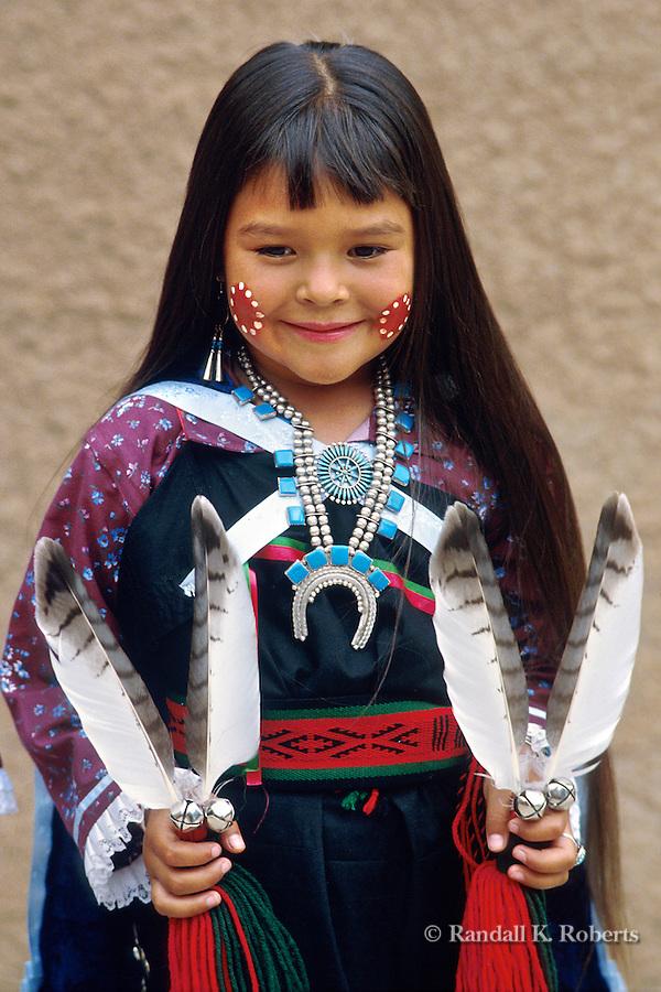 Violet Dawn Ahmie of Laguna Pueblo, poses after dancing at the Gallup Intertribal Ceremonial...© Randall K. Roberts