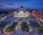 Palace of Fine Arts (Palacio de Bellas Artes) is a prominent cultural center in Mexico City hosting many exhibitions and theatrical performances.