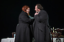 London, UK. 06.11.2015. English National Opera presents THE FORCE OF DESTINY, by Verdi, directed by Calixto Bieito, at the London Coliseum. Co-production with Metropolitan Opera, New York and the Canadian Opera Company, Toronto. Picture shows: Tamara Wilson (Leonora), Gwyn Hughes Jones (Alvaro). Photograph © Jane Hobson.