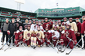 - The Boston College Eagles practiced at Fenway on Friday, January 6, 2017, in Boston, Massachusetts.