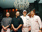 "New York, NY - April 22, 2008: (L-R) Chef at Baraonda Giuseppe Mazzeo, Chef at Bella Blu Roberto Patriarca, Cehf Daniele Perugini and Owner, Proietti Restaurant Group and Chef Enrico Proietti. Ciaobella Restaurant Brings ""The Art Of Pasta"" To Children In Need. Owner and Chef Enrico Proietti and Executive Chef Floess show the children of the Ronald  McDonald House of NY ""The Art of Pasta"" by teaching them about the history of Italian food and allowing them to explore a selection of pasta, preparation techniques and regional cooking styles. Afterwards, the children wil share their culinary creations with their families during a big, Italian family style meal in the elegant surroundings of Ciaobella."