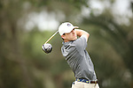 HOWEY IN THE HILLS, FL - MAY 19: Kell Graham of Guilford College tees off during the Division III Men's Golf Championship held at the Mission Inn Resort and Club on May 19, 2017 in Howey In The Hills, Florida. (Photo by Cy Cyr/NCAA Photos via Getty Images)