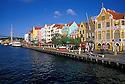 Waterfront shops & buildings in Punda, Willemstad, Curacao, Netherlands Antilles.