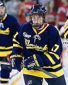 Shawn Bates (Merrimack - 17) - The visiting Merrimack College Warriors tied the Boston University Terriers 1-1 on Friday, November 12, 2010, at Agganis Arena in Boston, Massachusetts.