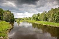 Pärnu River in Laupa, Järva County, Estonia, Europe