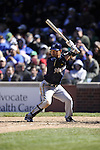 CHICAGO - APRIL  11:  Norichika Aoki #7 of the Milwaukee Brewers bats against the Chicago Cubs on April 11, 2012 at Wrigley Field in Chicago, Illinois.  The Brewers defeated the Cubs 2-1.  (Photo by Ron Vesely)   Subject:  Norichika Aoki