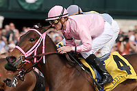 Oaks Lily and Julien Leparoux win the 8th race, Maiden $50,000.  April 13, 2012.