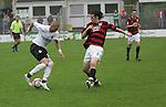 Sandhausen 19.04.2008, Velimir Grgic (SV Sandhausen) und Markus Karl (Ingolstadt) in der Regionalliga S&uuml;d 2007/08 SV Sandhausen 1916 - FC Ingolstadt 04<br /> <br /> Foto &copy; Rhein-Neckar-Picture *** Foto ist honorarpflichtig! *** Auf Anfrage in h&ouml;herer Qualit&auml;t/Aufl&ouml;sung. Belegexemplar erbeten.