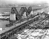 &quot;Freedom Gate Bridge&quot; spanning the Imjin River, built by the 84th Engineer Construction Bn.  This bridge temporarily replaces the original structure which was destroyed by bombs.  March 10, 1952.  G. Dimitri Boria. (Army)<br /> NARA FILE #:  111-SC-410709<br /> WAR &amp; CONFLICT BOOK #:  1407
