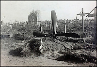 BNPS.co.uk (01202) 558833<br /> Picture: collect<br /> <br /> An emotive photograph showing a propeller marking a pilot's grave.<br /> <br /> An incredible photo album showing German First World War pilots quoffing champagne and getting drunk in their mess have been discovered. Coming just 11 years after the first ever flight by the Wright brothers, air warfare was a new but risky concept at the start of the Great War -- The men of the Royal Flying Corps' used the unofficial motto of 'live for today, tomorrow we die' such was the deadly nature of their job. Judging by the dozens of the black and white snaps that have emerged, it seems their German counterparts adopted a similar attitude to life.