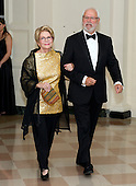Carol Pensky and David Pensky arrive for the Official Dinner in honor of Prime Minister David Cameron of Great Britain and his wife, Samantha, at the White House in Washington, D.C. on Tuesday, March 14, 2012.  Ms. Pensky is one of United States President Barack Obama's biggest campaign fundraisers..Credit: Ron Sachs / CNP.(RESTRICTION: NO New York or New Jersey Newspapers or newspapers within a 75 mile radius of New York City)