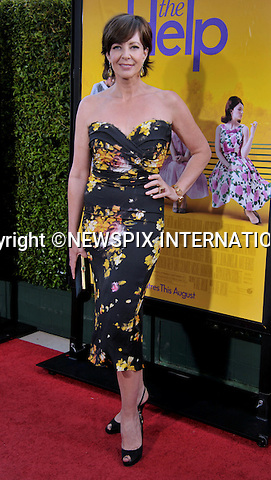 """ALLISON JANNEY.attends """"The Help"""" World Premiere at the Samuel Goldwyn Theater, Beverly Hills, Westwood, Los Angeles_09/08/2011.Mandatory Photo Credit: ©Crosby/Newspix International. .**ALL FEES PAYABLE TO: """"NEWSPIX INTERNATIONAL""""**..PHOTO CREDIT MANDATORY!!: NEWSPIX INTERNATIONAL(Failure to credit will incur a surcharge of 100% of reproduction fees).IMMEDIATE CONFIRMATION OF USAGE REQUIRED:.Newspix International, 31 Chinnery Hill, Bishop's Stortford, ENGLAND CM23 3PS.Tel:+441279 324672  ; Fax: +441279656877.Mobile:  0777568 1153.e-mail: info@newspixinternational.co.uk"""