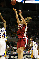 27 March 2006: Brooke Smith during Stanford's 62-59 loss to LSU during the NCAA Women's Basketball tournament Elite Eight round in San Antonio, TX.