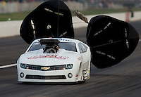 Sept. 1, 2013; Clermont, IN, USA: NHRA pro mod driver Mike Janis during qualifying for the US Nationals at Lucas Oil Raceway. Mandatory Credit: Mark J. Rebilas-