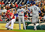 23 April 2010: Washington Nationals' first baseman Adam Dunn in action during a game against the Los Angeles Dodgers at Nationals Park in Washington, DC. The Nationals defeated the Dodgers 5-1 in the first game of their 3-game series. Mandatory Credit: Ed Wolfstein Photo