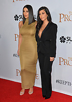 Kim Kardashian West &amp; Kourtney Kardashian at the premiere for &quot;The Promise&quot; at the TCL Chinese Theatre, Hollywood. Los Angeles, USA 12 April  2017<br /> Picture: Paul Smith/Featureflash/SilverHub 0208 004 5359 sales@silverhubmedia.com