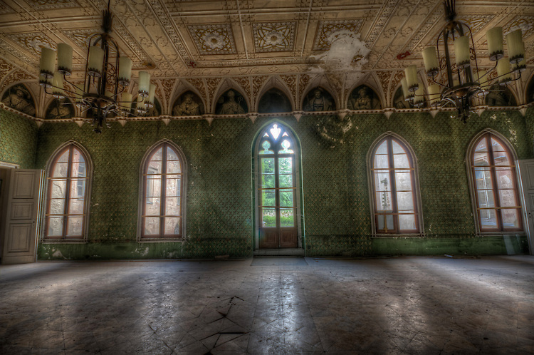 German forgotten castle interior