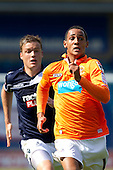 Thomas Ince, Blackpool FC - Millwall vs Blackpool - NPower Championship Football at the New Den, London - 18/08/12 - MANDATORY CREDIT: Ray Lawrence/TGSPHOTO - Self billing applies where appropriate - 0845 094 6026 - contact@tgsphoto.co.uk - NO UNPAID USE.
