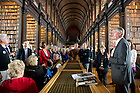 August 31, 2012; Hesburgh Libraries Advisory Council during a private tour to see the Book of Kells and the Long Room at Trinity College Library in Dublin, Ireland.  Photo by Barbara Johnston/University of Notre Dame