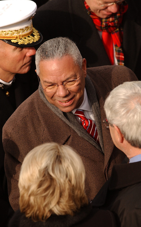 Secretary of State Colin Powell attends the 55th Presidential Inauguration in which George W. Bush was sworn into a second term.