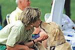 Golden Retriever & Owner Kissing