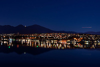 Lake Mission Viejo at night