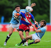 Martin Kovar of the Czech Republic in action. FISU World University Championship Rugby Sevens Men's 7th/8th/9th place play-off match between the Czech Republic and Argentina on July 9, 2016 at the Swansea University International Sports Village in Swansea, Wales. Photo by: Patrick Khachfe / Onside Images