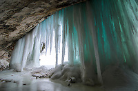 The impressive, colorful ice caves along the Grand Island shoreline and Lake Superior. Munising