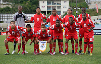 Panama lines up before the game during the group stage of the CONCACAF Men's Under 17 Championship at Jarrett Park in Montego Bay, Jamaica. Panama tied Cuba, 0-0.