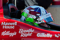 20-21 Febuary, 2012 Birmingham, Alabama USA.Dario Franchitti on pit lane.(c)2012 Scott LePage  LAT Photo USA