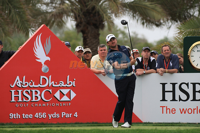 Graeme McDowell teeing off on the 9th tee on day two of the Abu Dhabi HSBC Golf Championship 2011, at the Abu Dhabi golf club, UAE. 21/1/11..Picture Fran Caffrey/www.golffile.ie.