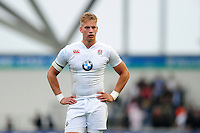Harry Mallinder of England U20 looks on during a break in play. World Rugby U20 Championship match between England U20 and Scotland U20 on June 11, 2016 at the Manchester City Academy Stadium in Manchester, England. Photo by: Patrick Khachfe / Onside Images