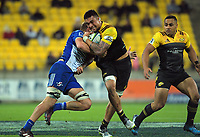 Vaea Fifita in action during the Super Rugby match between the Hurricanes and Stormers at Westpac Stadium in Wellington, New Zealand on Friday, 5 May 2017. Photo: Dave Lintott / lintottphoto.co.nz