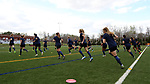 CHARLOTTE, NC - MARCH 25: The Courage players warm up before the game. The NWSL's North Carolina Courage played their first preseason game against the University of Tennessee Volunteers on March 25, 2017, at Queens University of Charlotte Sports Complex in Charlotte, NC. The Courage won the match 3-0.