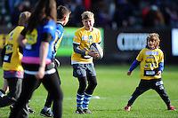 Half-time action. Aviva Premiership match, between Bath Rugby and Saracens on December 3, 2016 at the Recreation Ground in Bath, England. Photo by: Patrick Khachfe / Onside Images