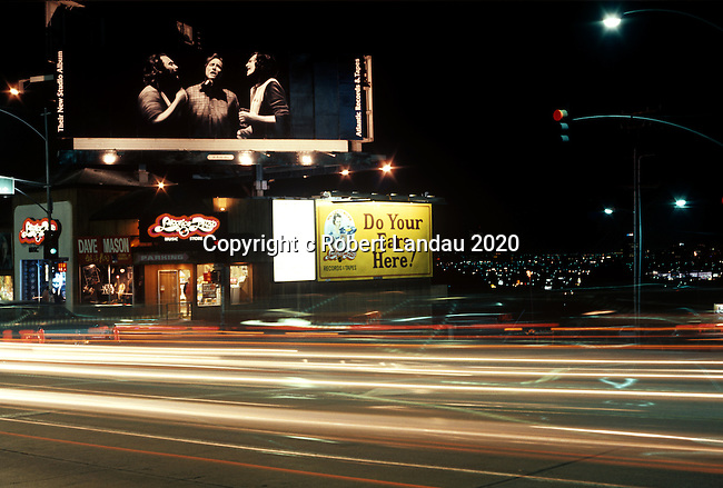 Crosby, Stills and Nash billboard, Sunset Strip, 1977