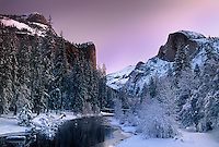 762701045 half dome winter dawn along the merced river in yosemite valley yosemite national park california
