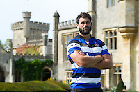 Bath Rugby club captain Guy Mercer poses for a photo at a Bath Rugby photocall. Bath Rugby Media Day on August 24, 2016 at Farleigh House in Bath, England. Photo by: Patrick Khachfe / Onside Images