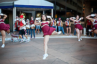 NORFOLK, VA--The Stanford Dollies perform for the team during a pregame sendoff at the Sheraton Hotel before taking on West Virginia at the Ted Constant Convocation Center at Old Dominion University for the second round of the 2012 NCAA Championships.