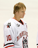 Steve Quailer (Northeastern - 10) - The visiting Niagara University Purple Eagles defeated the Northeastern University Huskies 4-1 on Friday, November 5, 2010, at Matthews Arena in Boston, Massachusetts.