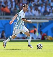 FUSSBALL WM 2014  VORRUNDE    GRUPPE F     Argentinien - Iran                         21.06.2014 Lionel Messi (Argentinien) am Ball