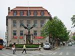 Butterfield & Swire's Post-1936 Office In Qingdao (Tsingtao), South Facing Elevation.  The Chartered Bank Leased The Ground Floor And Thus It's Generally Assumed To Have Been Owned By The Bank.  HSBC Just Visible Right.  And Note The Anchor Base Of The Statue.