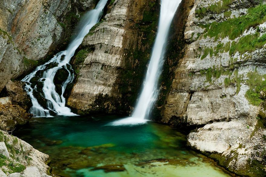 Savica waterfall (Slap Savica)<br /> Triglav National Park, Slovenia<br /> August 2009