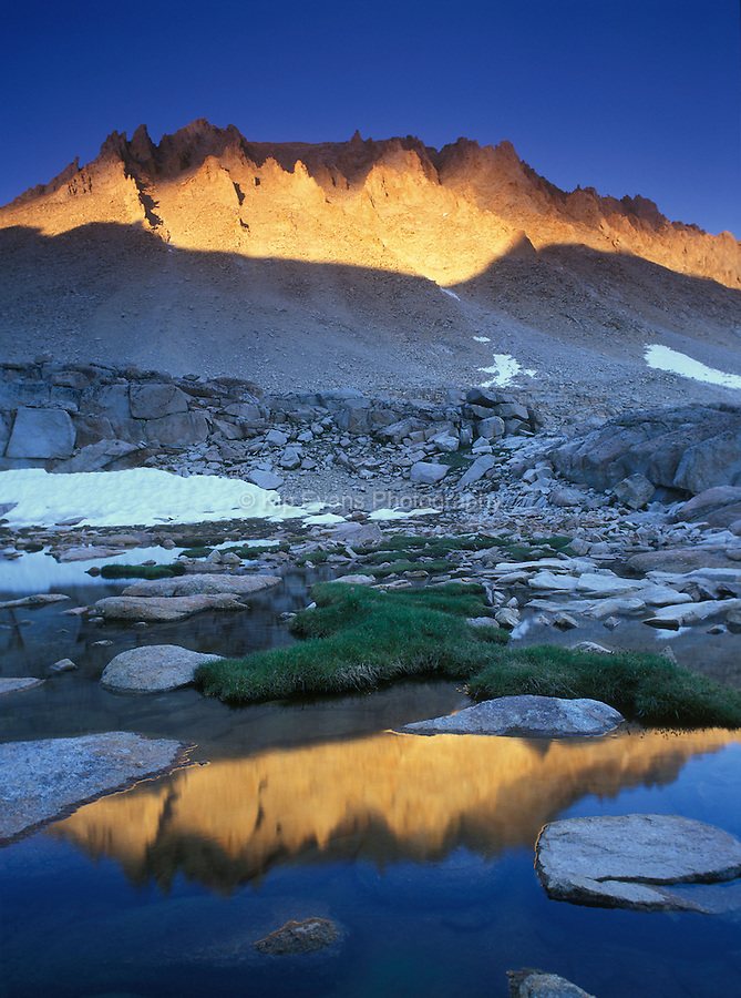 Reflection of the backside of Mt. Whitney at sunset
