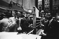 Manhattan, New York City, NY.  January 15th1976.<br /> Wall St. men.