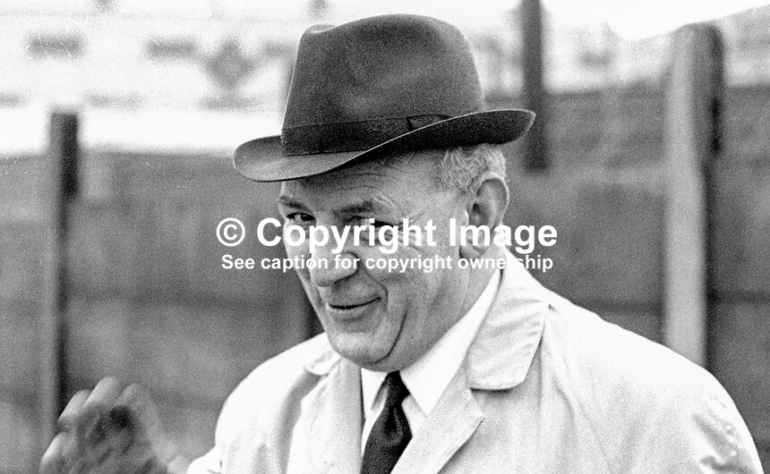 District Inspector Ross McGimpsey, RUC, N Ireland, who was involved in the policing of a banned civil rights march in Duke Street, Londonderry, on 5th October 1968, which turned out to be a key event in the N Ireland Troubles because television pictures went of it viral. 197001160025a<br />