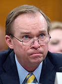United States Representative Mick Mulvaney (Republican of South Carolina) testifies during the US Senate Committee on the Budget hearing considering his nomination to be  Director, White House Office of Management and Budget (OMB) on Capitol Hill in Washington, DC on Tuesday, January 24, 2017.<br /> Credit: Ron Sachs / CNP