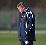 Ally McCoist ponders team tactics at training