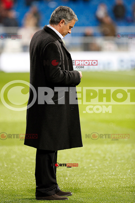 Jose Mourinho during La Liga Match. December 01, 2012. (ALTERPHOTOS/Caro Marin)